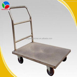 Customize Kitchen Tool Stainless Steel Platform Hand Trolley