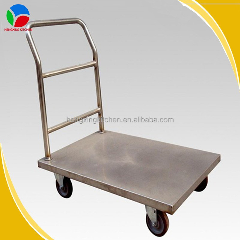 Kitchen Tool Stainless Steel Platform Hand Trolley (Support Cusomization)