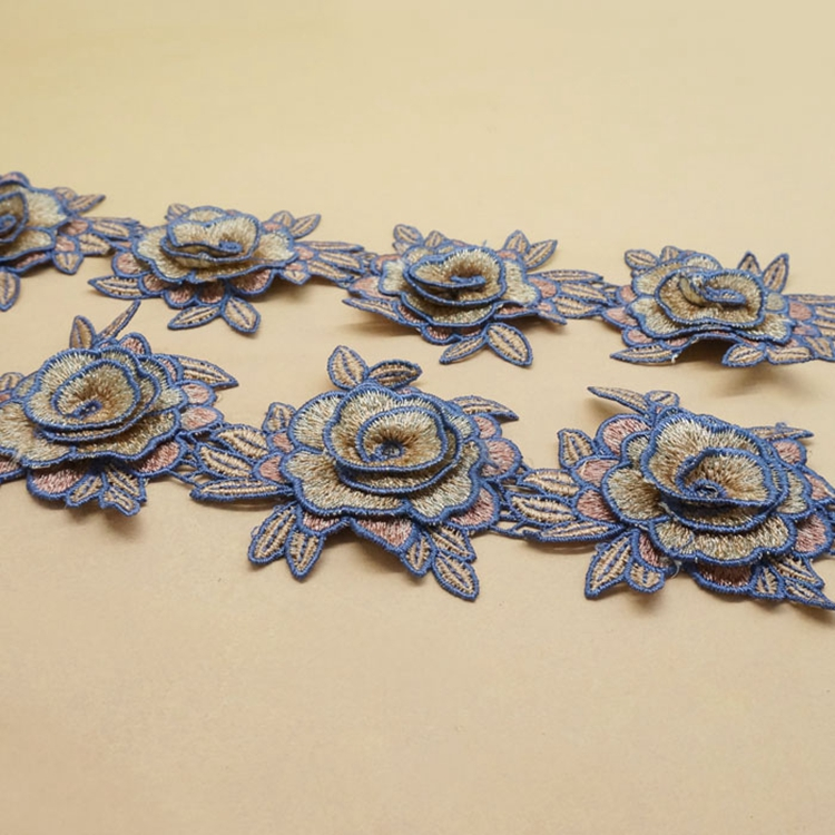 Amazing Quality decorative embroidery chemical net lace trim