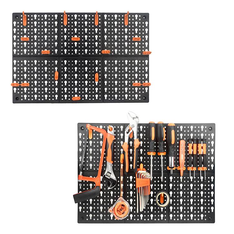 PP wall mount storage 3 panelen plastic tool opbergrek bin
