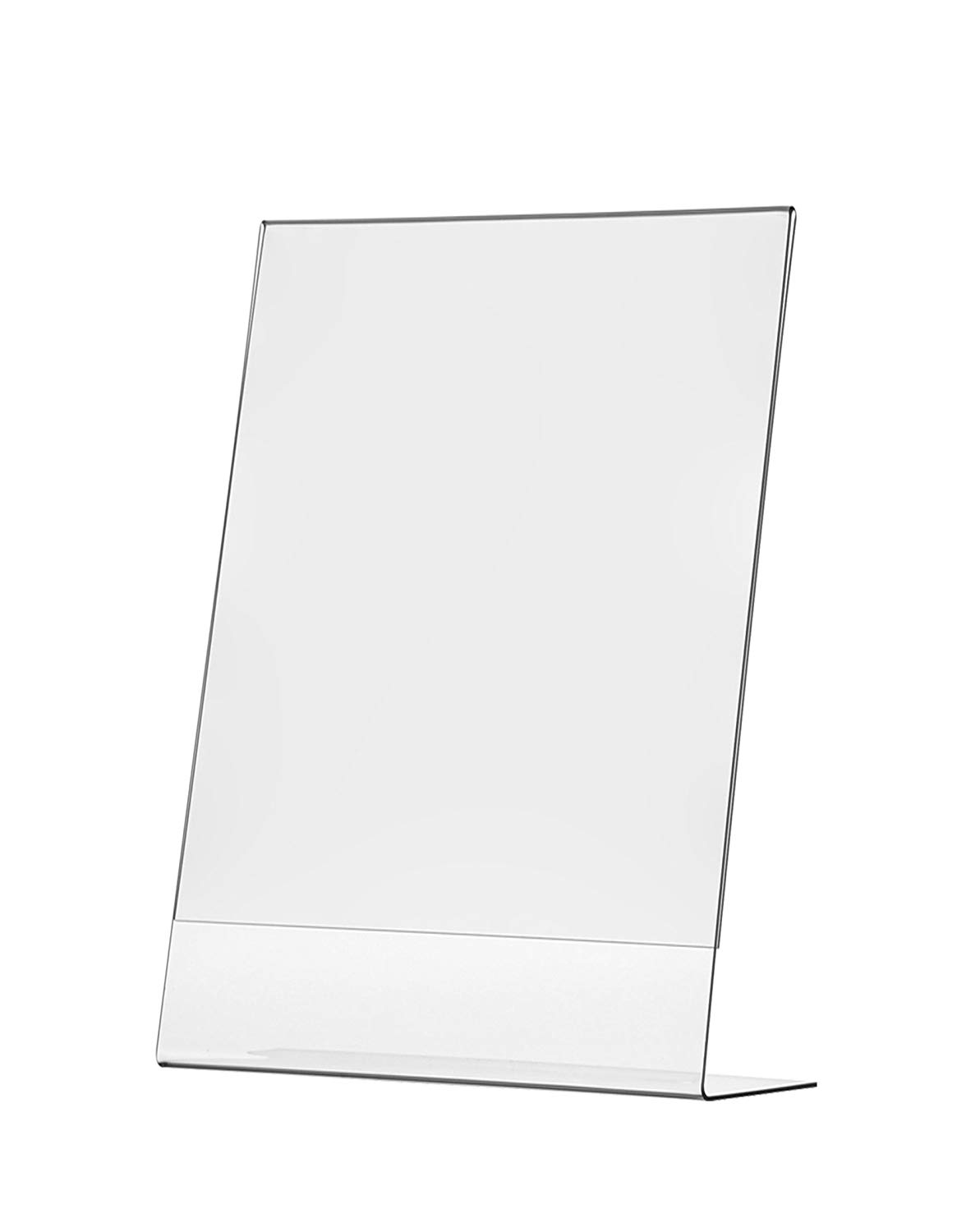 Wall Sign Holder with Tri-Fold Pocket 8.5 x 11 Inch Literature Display Premium