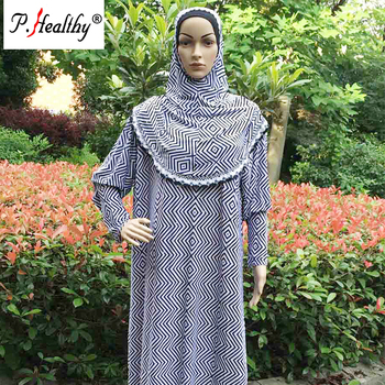 New stylish dubai islamic women's casual wear abaya printed muslim abaya turkish hijab dress