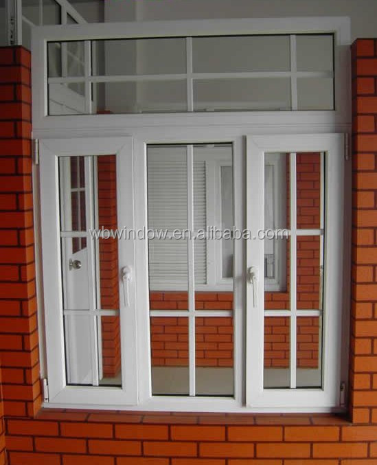 2018 Latest Pvc Home Window With Grill Design Indian Window Design