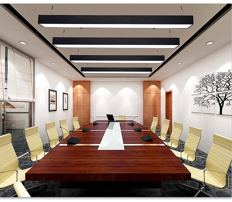 Shenzhen Lighting Factory Modern Aluminium Strip Led Hanging Pendant Office  Lighting