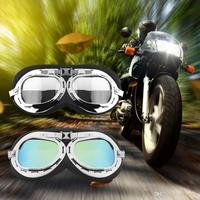 Vintage Motorcycle Carting Goggles Glasses Mirror Pilot Biker Helmet Sunglasses Scooter Cruiser Glasses Off-Road Motocross Racin