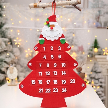 Home Decorating Wall Hanging Felt Christmas Tree Advent Calendar For Kids Buy Wall Hanging Advent Calendar Christmas Decorations Home Felt Christmas