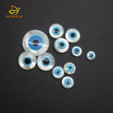 Wholesale Round Evil Eye Shell Natural Mother Of Pearl