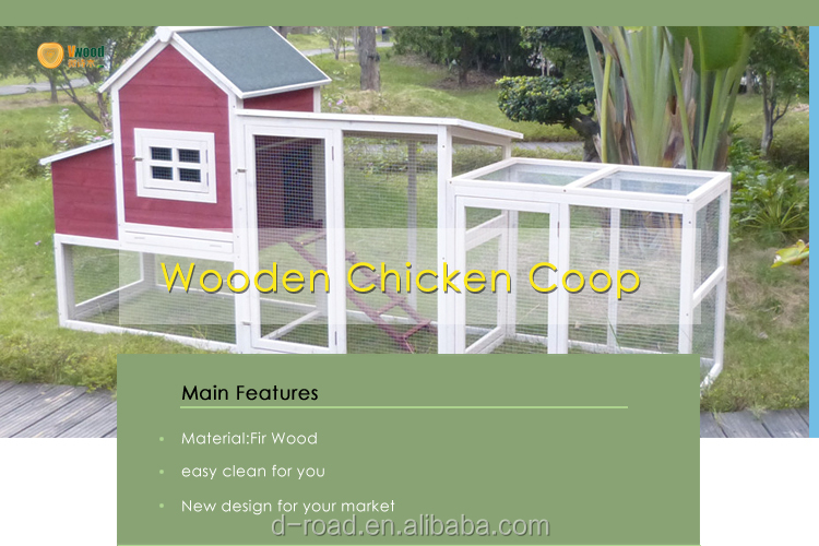 Big chicken coop for 6 10 chickens pet house with run for Chicken run for 6 chickens