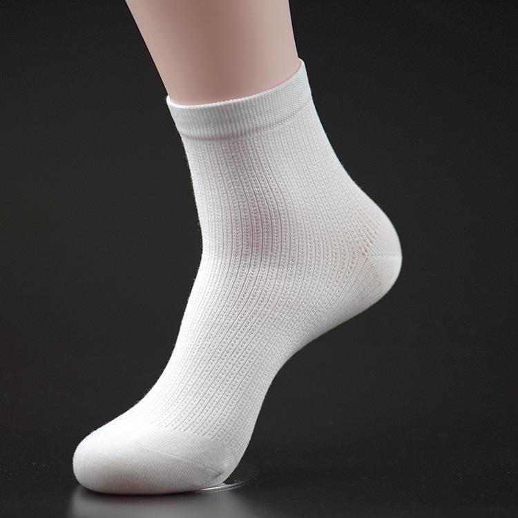 In white socks