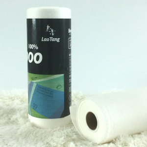 Reusable white bamboo roll towel paper roll german kitchen towel wholesale