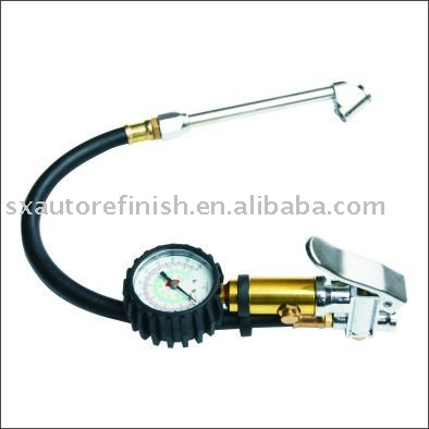 1/4 Air Inlet CP Tyre Inflator With Gauge