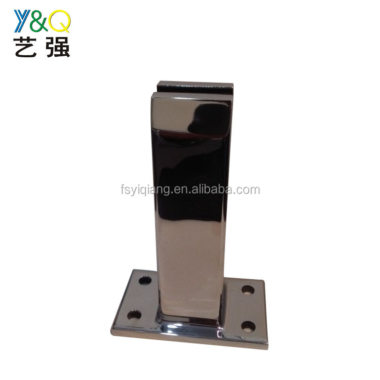 High quality hot sale mirror finish stainless steel handrail railing glass clamp