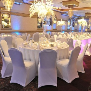 Wholesale cheap Strong stretch lycra Standard Size white lycra spandex hotel party banquet wedding chair cover