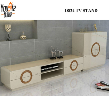 Luxury Mdf Tv Table Modern Design Wooden Led Plasma Tv Stand
