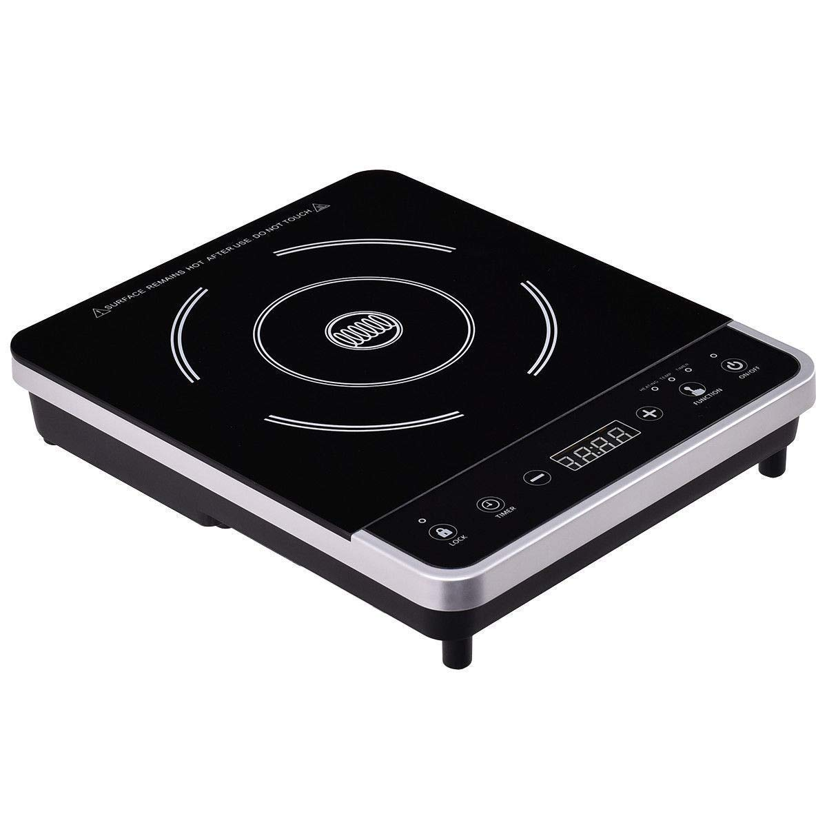 GHP 500W-1800W Plastic 10-Level Temperature Electric Induction Cooker with Timer