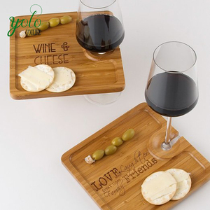 Bamboo Party Plate Bamboo Wine Glass Holder