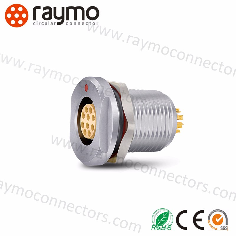DEU 103 A057-130 compatible fischers IP68 connector 7 way panel receptacle female push pull industrial connector