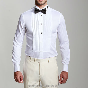 2014 hot stylish 100 cotton white tuxedo collar and 100 cotton tuxedo shirt