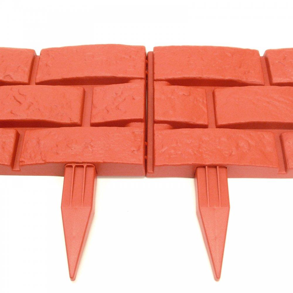 Red Brick Effect Plastic Garden Edging