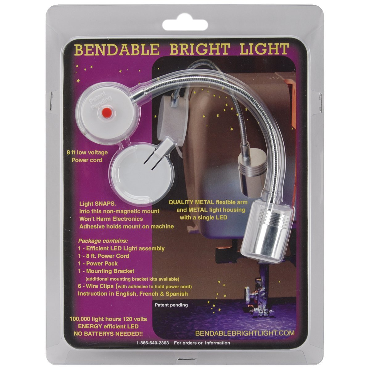 Bendable Bright Light Bendable Kit with On/Off Button( only useable in Europe)