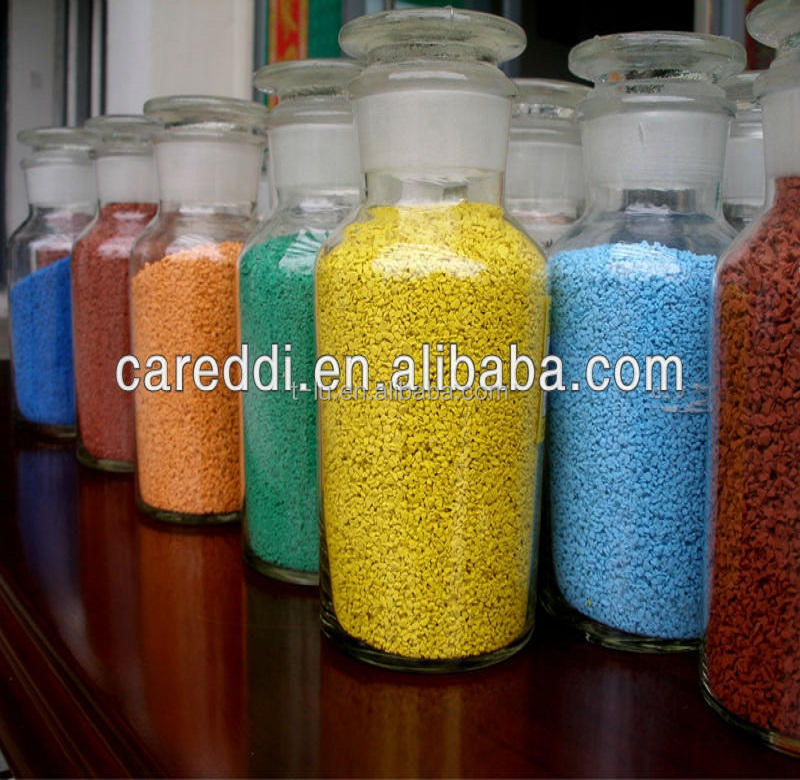Colorful Granules of Rubber for Running Tracks