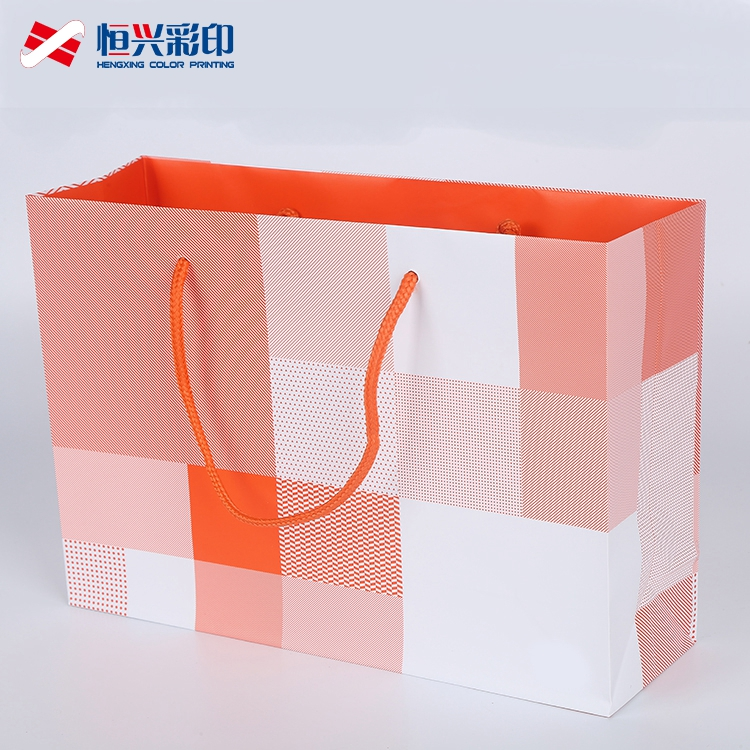 Custom printed recycle shopping paper bag