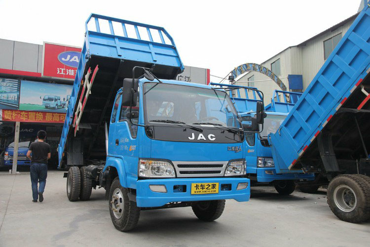 JAC Euro IV 4 m van di alta qualità idraulico dump truck in vendita