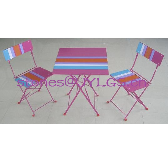Cheap Garden Silk Screen Printing Furniture Set Folding Chair and Table