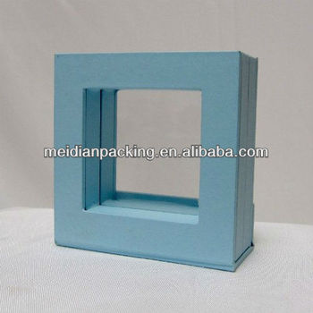3 D Suspension See Through Shinny Wooden Jewelry Box Photo Frame