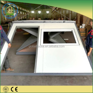 Rapidly build prefabricated 40FT folding container first aid house