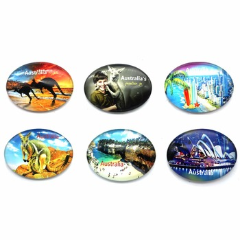 BSCI supplier Glass Australia cities fridge magnet
