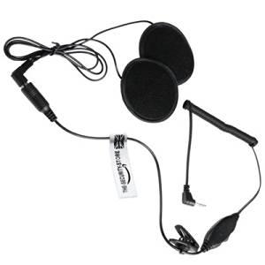 2 x Motorcycle Helmet Earpiece / Headset for MOTOROLA TLKR Radio: T3, T5, T6, T7, T8, T9, T80 Extreme (2.5mm Jack) THE-SECURITY-STORE