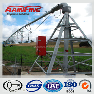 Dalian Rainfine Large Automatic Central Pivot Farm Irrigation Machine Used in Large Flield