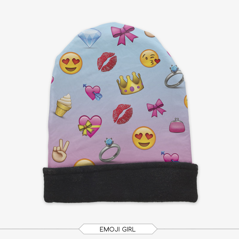 e02b9b1d51e74 2015 new arrival 3D emoji printing cover winter knitting wool beanie hats  factory directly selling dropshipping