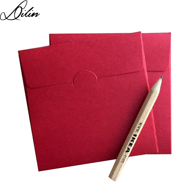 Auspicious red square small envelope for match small card/invitation card/membership card