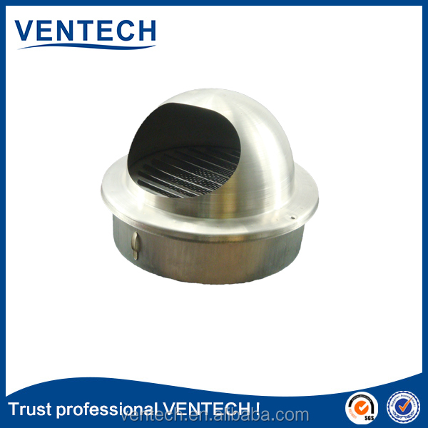 Fresh air vent cover Return grille round ball weather louver for HVAC