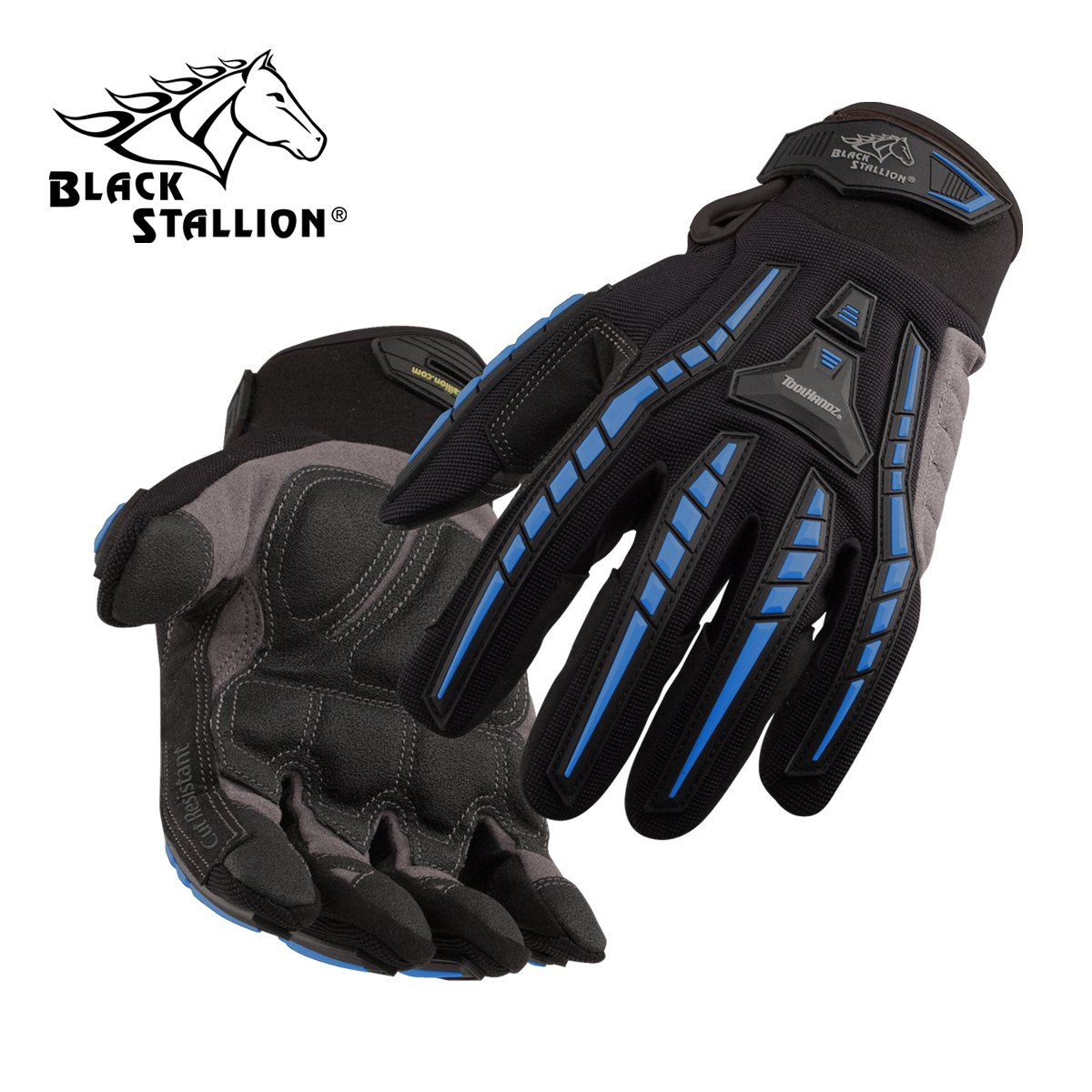 REVCO BLACK STALLION - GX102 TOOLHANDZ SYNTHETIC LEATHER CUT RESISTANT MECHANIC'S GLOVES - SIZE: XLARGE - CASE OF: 120 PAIR