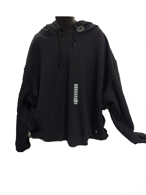 Vska Men Full-Zip Athletic Sleeveless Waistcoat Vest Hoodies Sweater White L