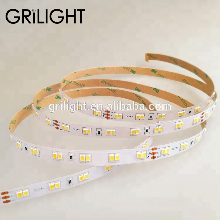 2019 high brightness SMD2835 dual <strong>color</strong> 112 led strip <strong>light</strong>