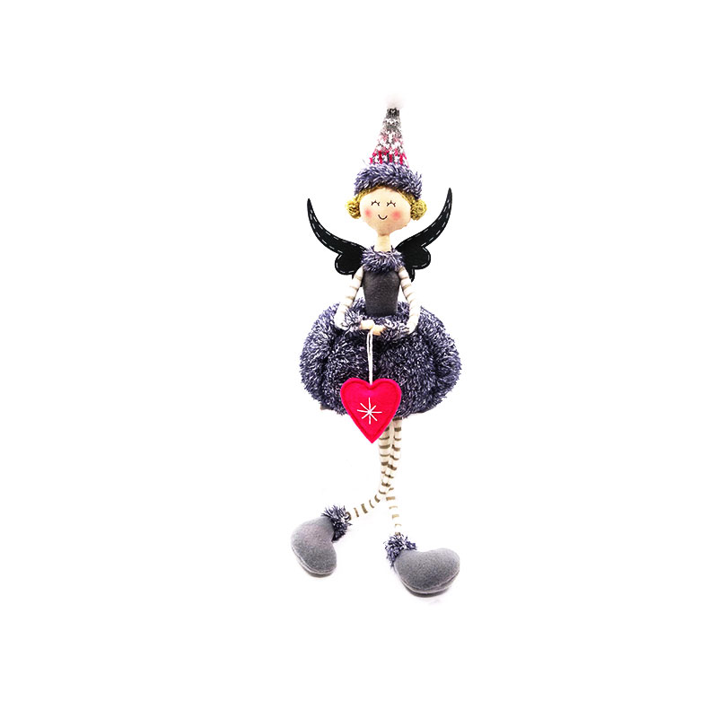 48.5CM grey sitting christmas angel <strong>doll</strong>
