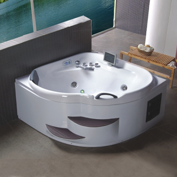 New Products 2017 Buthtub Price Hot Tub Bathtub Pillow 1 Person Jetted Bath  Tub Indoor