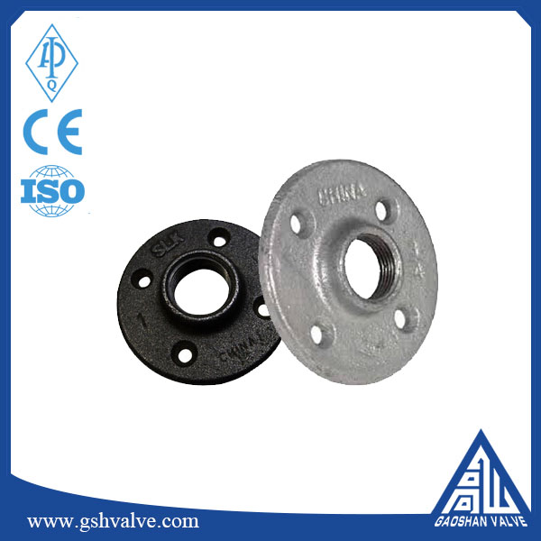 "high quality malleable iron flange of China supplier and standard 1/2""high quality floor flange"