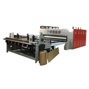 corrugated box semi-automaitc 4 color printer slotter machine