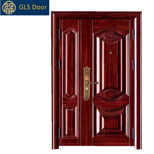 Steel Apartment Entry Door Entrance Gate Exterior Iron Doors With Sidelites