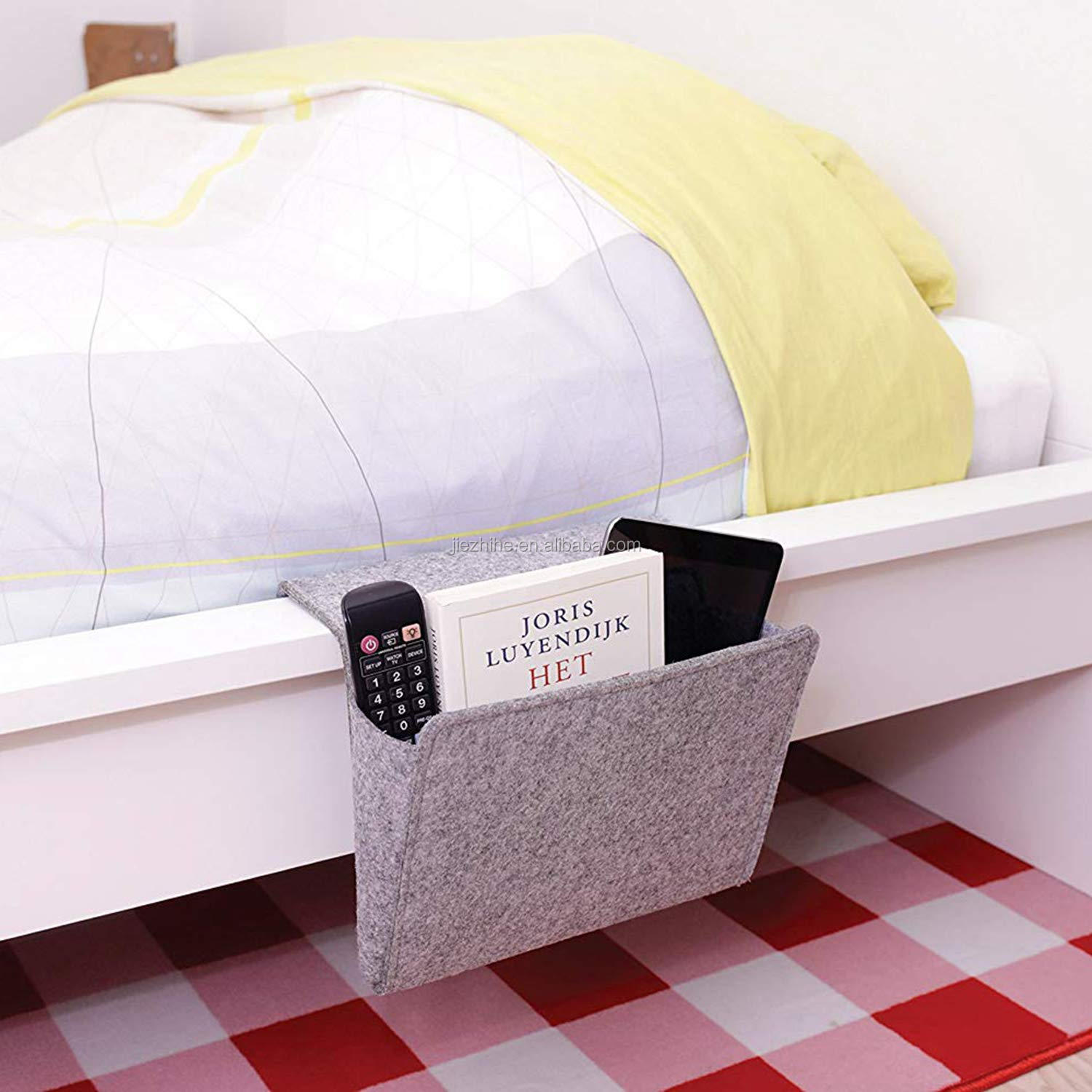 FeltBedside Caddy Opknoping Organizer Anti-Slip Tijdschrift Telefoon Tablet iPad Glas Houder voor Thuis Bed Rails SofaBunk B