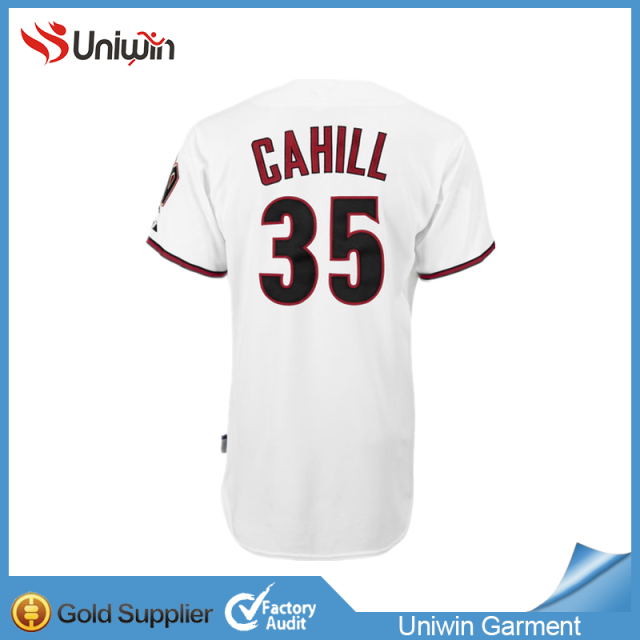 5356434f Arizona Diamondbacks #35 Cahill white jersey baseball 100% polyester