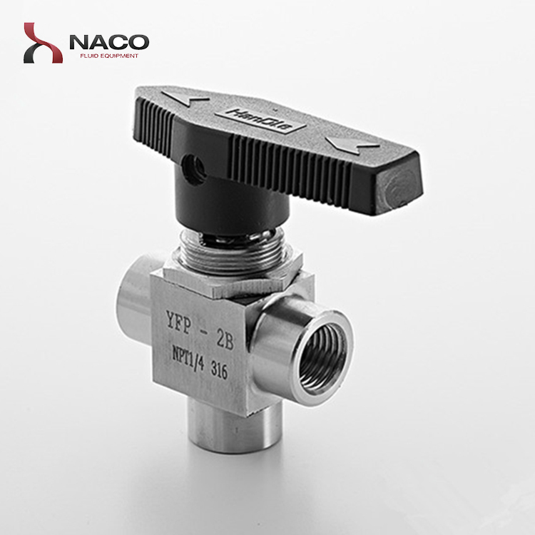 Female Thread One Piece SS316 3 Way 1/4 NPT Ball Valve for Oil and Gas