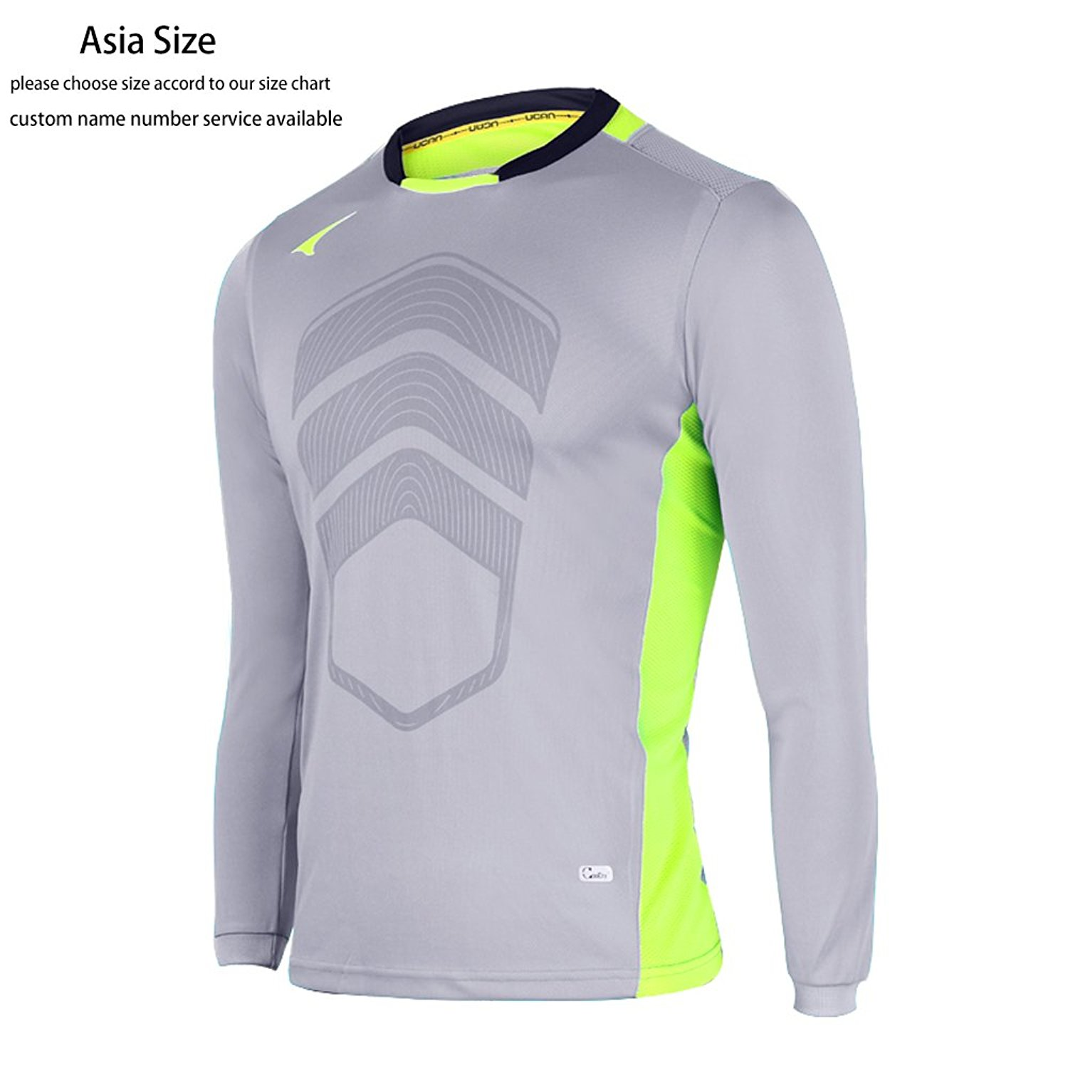 Get Quotations · Ucan Soccer Goalkeeper Jersey Padded Goalie Jersey Youth  and Men K05130 8327b2301