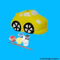 Fun to Paint Ceramic Mini Coin Bank, Car