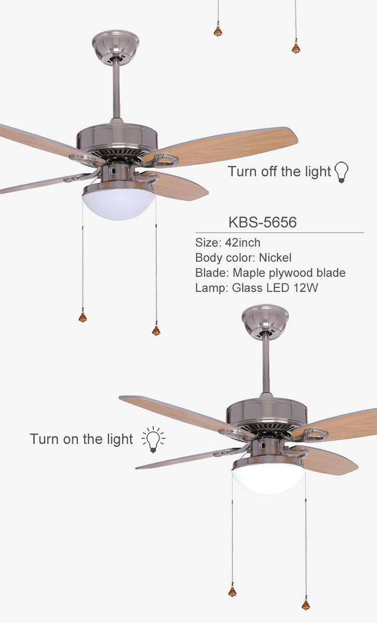 Heat Product Orient National Style House Fancy Wood Lamp Ceiling Fan With Light